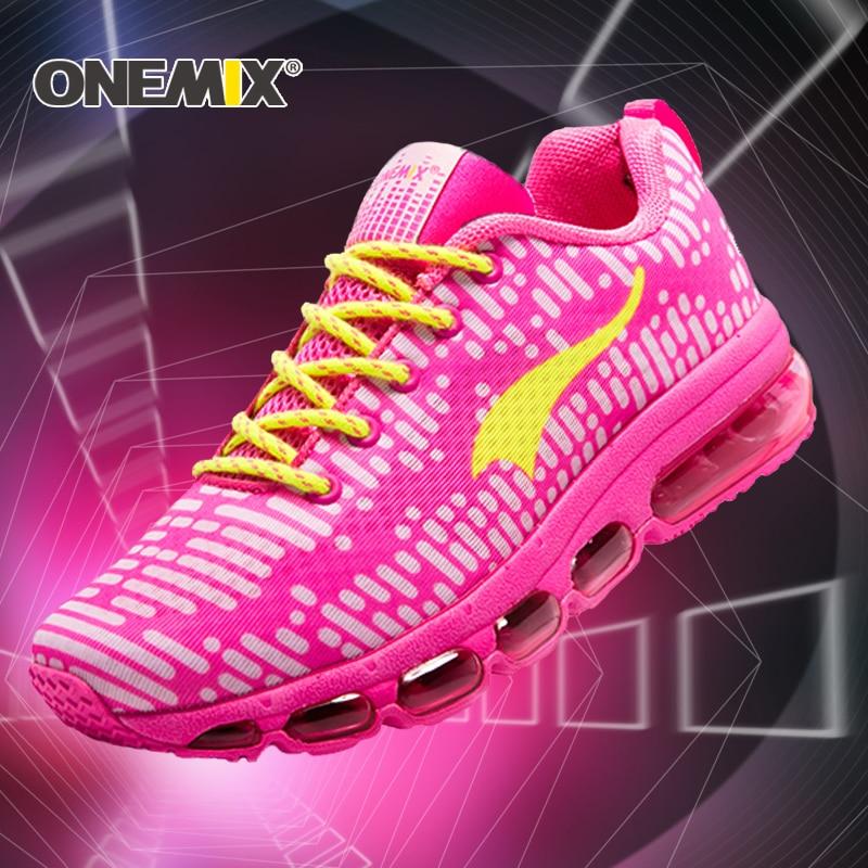 Onemix New Running Shoes women Outdoor Sport shoes men air cushion sneaker shoes zapatos hombre trekking