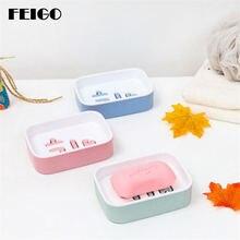 Feigo 1 шт двухслойный держатель для мыльницы ванной комнаты