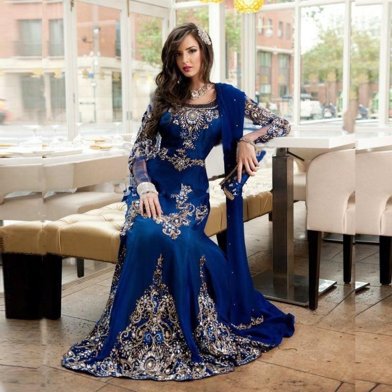 Vestidos Dubai Kaftan Gaun Malam Satin Panjang Pakaian Kristal Sulaman Sexy Panjang Parti Perkahwinan Pakaian