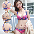 2016 Hot Sale Women Underwear Floral Lace Bra Brief Sets Sexy Lovely Young Girl Brand Embroidery Gather Casual Bra Panty Sets