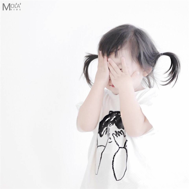 KIKIKIDS Dječak T-shirt Ljetna odjeća za djecu Djevojke T-shirt Shy - Dječja odjeća