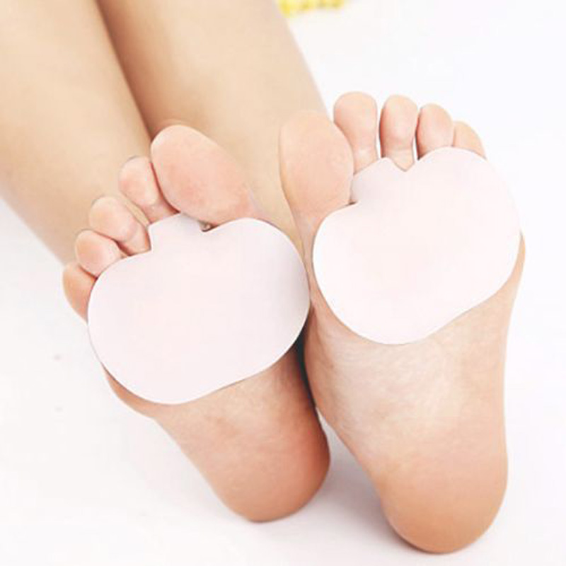 1pair Gel Forefoot Toe Pads Silicone Cushion Half Insole Hallux Valgus Corrector Orthotics High Heel Foot Pad Orthopedic Mat