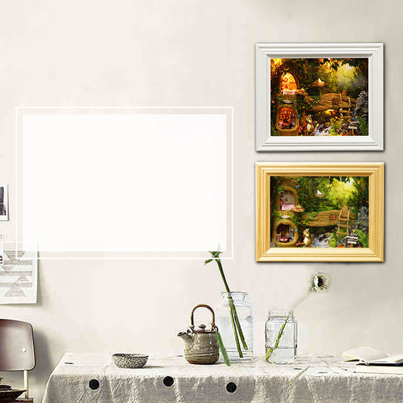 Erfreut Bilderrahmen Holz Kits Fotos - Benutzerdefinierte ...