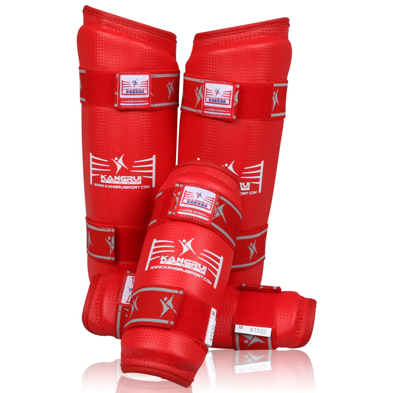 Wholesale durable artificial leather Muay Thai Boxing Taekwondo arm guard protector protective sleeve adult child Forearm guards