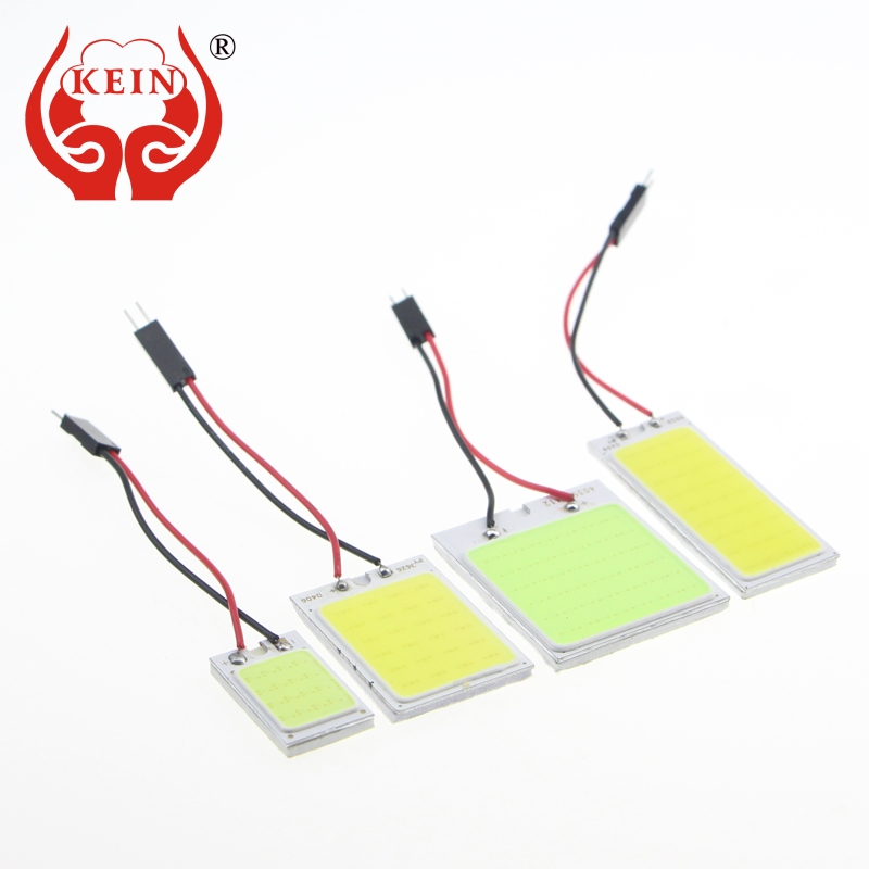 KEIN 1PCS T10 W5W C3W C5W C10W BA9S festoon Auto car led COB Reading map indicator Interior ice Blue Vehicle Lamp Bulb Light 12V