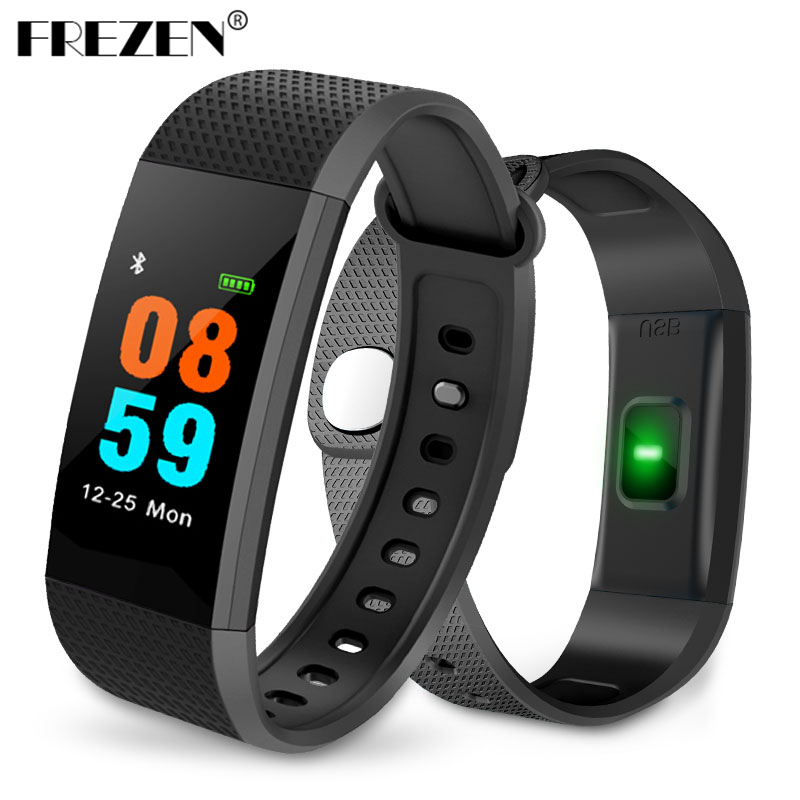 FREZEN I9 Sport Smart Bracelet Watch Band Heart Blood Pressure Monitor Wristband Waterproof Fitness Tracker for IOS Android