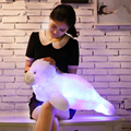 Мигает морской лев плюшевые игрушки LED Световой кукла Свет Подушку творческий подарок на день рождения 70 см