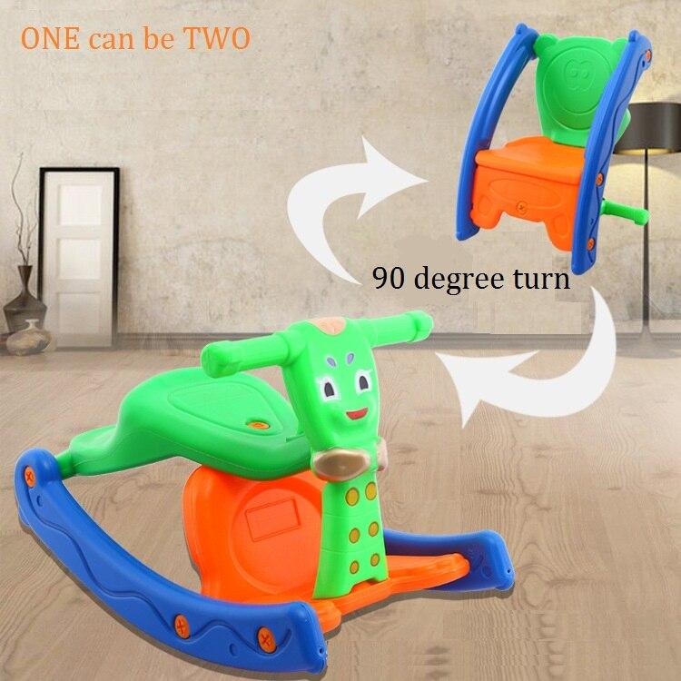 Livraison Gratuite Multifonctionnel jouet véhicule bébé cheval à bascule tabouret combo double-but chaise berçante avec light music