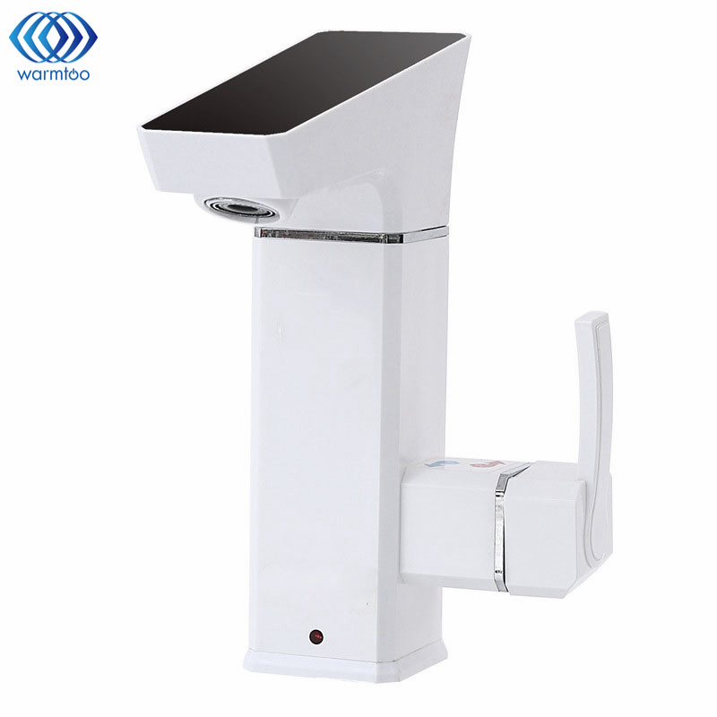 Electric Hot Water Heater Tap Instant Tankless Digital Display Large Screen Leakage Protection Kitchen 3000W Shower Room atwfs tankless water heater 220v 5500w thermostat digital electric heater kitchen