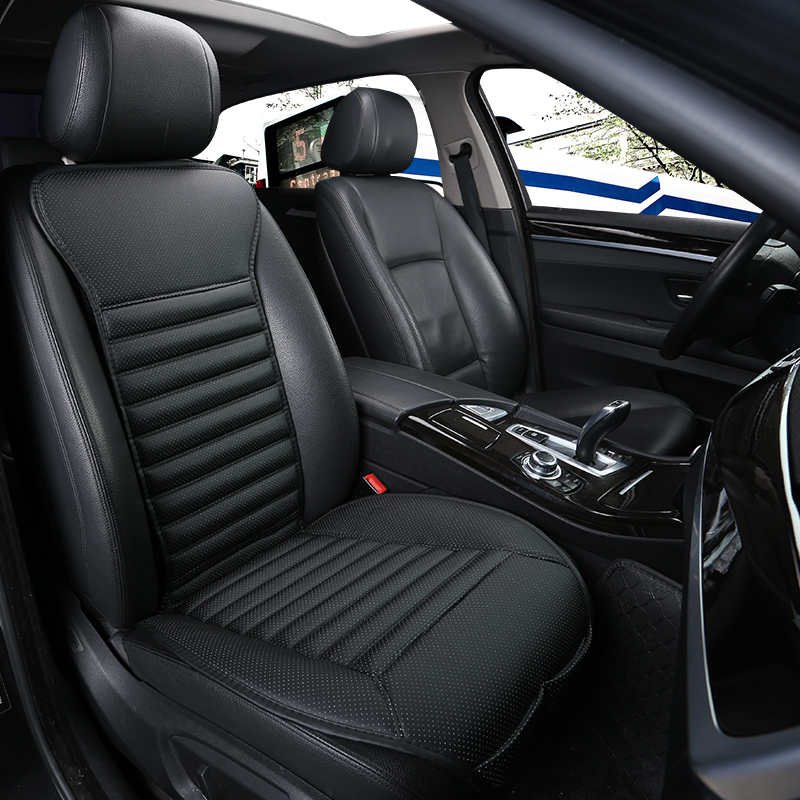 Car small waist cushion car seat cushion car green leather wear breathable and comfortable car seat cover