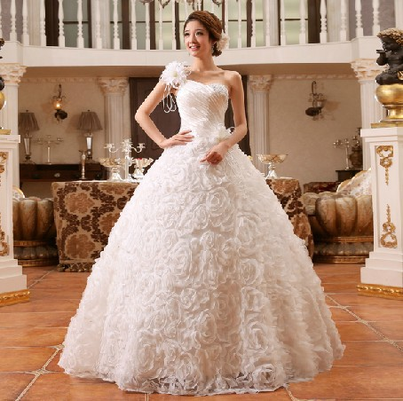 Fabulous Wedding Dresses 2014 Tube Top Bandage Princess Bridal Gowns Discount Ball Gown