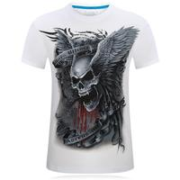 S 6XL T Shirt 3D Skull Printed Men 2017 Summer Fashion Brand Men S Casual Man