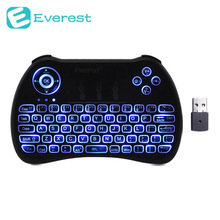 IPazzport + English Russian Backlight Mini Wireless Keyboard 2.4GHz Air Mouse Gaming Touchpad for Android TV BOX Laptop