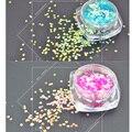 E1Q4 2 Diseños de Uñas Glitter Powder Polvo Bling Del Color de Escamas de Pescado Arte Del Clavo 3D Decoraciones Del Arte Del Clavo Punta De La Botella Conjunto BRICOLAJE herramientas (5 gJar)