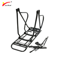 Jueshuai 24 26 bicycle luggage rack Bike Rear Rack Silver Black trunk Carrier Adjustable Holder for Bike Accessories