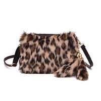 Faux Fur Messenger Bag Borsa Vintage di Modo Del Leopardo Zebra Nappa Crossbody Bag Donna Borsa Carina Tracolla Nuovo 2018 Inverno Flap