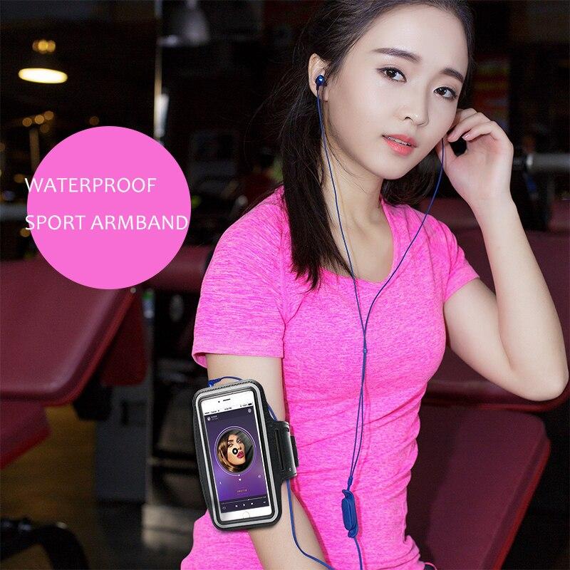 wangcangli Waterproof Sport Armband Rainproof for iphone Case 5.5 inch sport Universal phone in the hand for xiaomi armband
