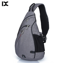 Sac décole en Nylon pour hommes, sac de poitrine de grande capacité, sacs décole moderne à épaule unisexe, sacoche de poitrine de bonne qualité