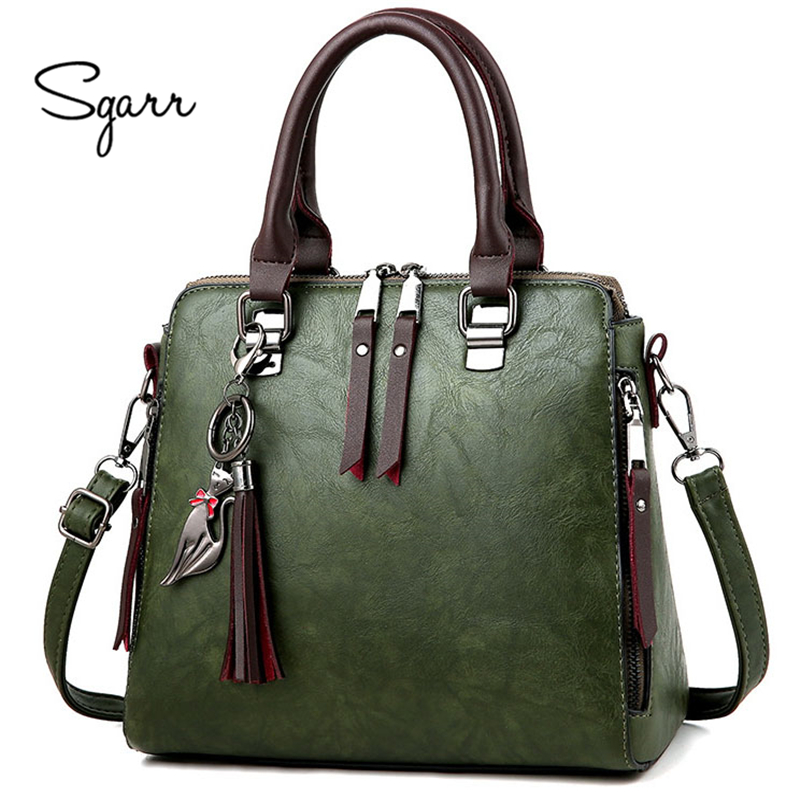 SGARR soft leather handbags women famous brands luxury bag designer quality casual lady messenger bag female large shoulder bags 2018 soft genuine leather bags handbags women famous brands platband large designer handbags high quality brown office tote bag