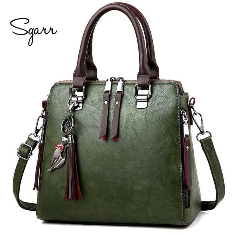 0b9da64127c2 SGARR мягкие кожаные сумочки женские известные бренды роскошная сумка  дизайнерское Качество Повседневная женская сумка-мессенджер