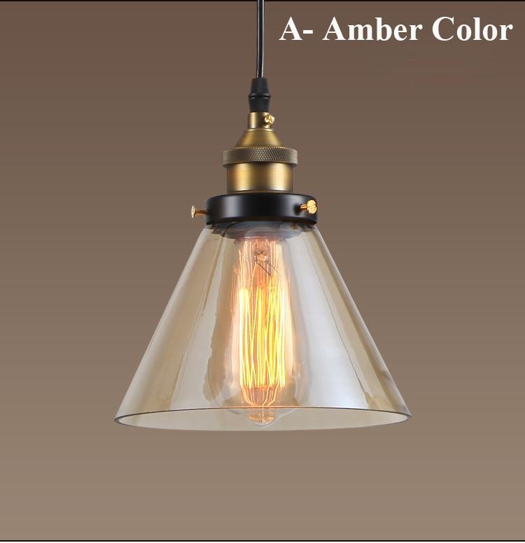 Dritat moderne me varëse xhami industriale Edison varëse me llambë - Ndriçimit të brendshëm - Foto 3