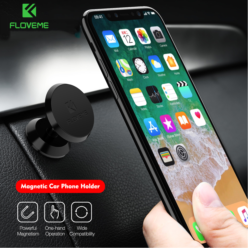 FLOVEME Car Phone Holder For Samsung S8 Plus Xiaomi Universal Magnetic Car Holder Magnet Stand Phone Holder For iPhone 8 X 6 7