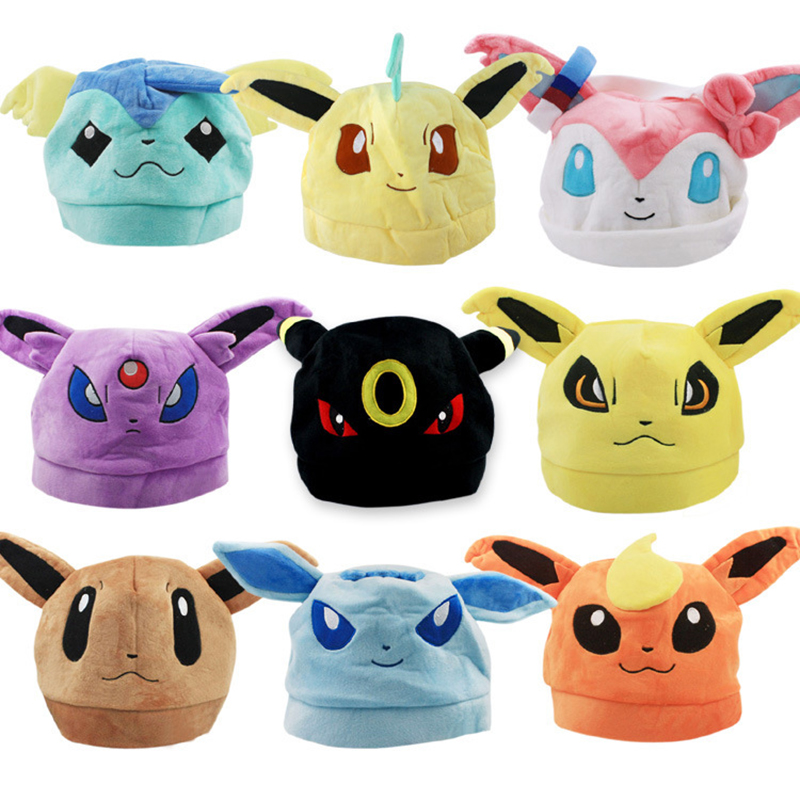 Top Anime Pokemon Eevee Ib Logo Cotton Hat Winter Warmer Beanie Cap Costume Ball Cosplay Gift New Arrival 9 patterns sosw fashion anime theme death note cosplay notebook new school large writing journal 20 5cm 14 5cm