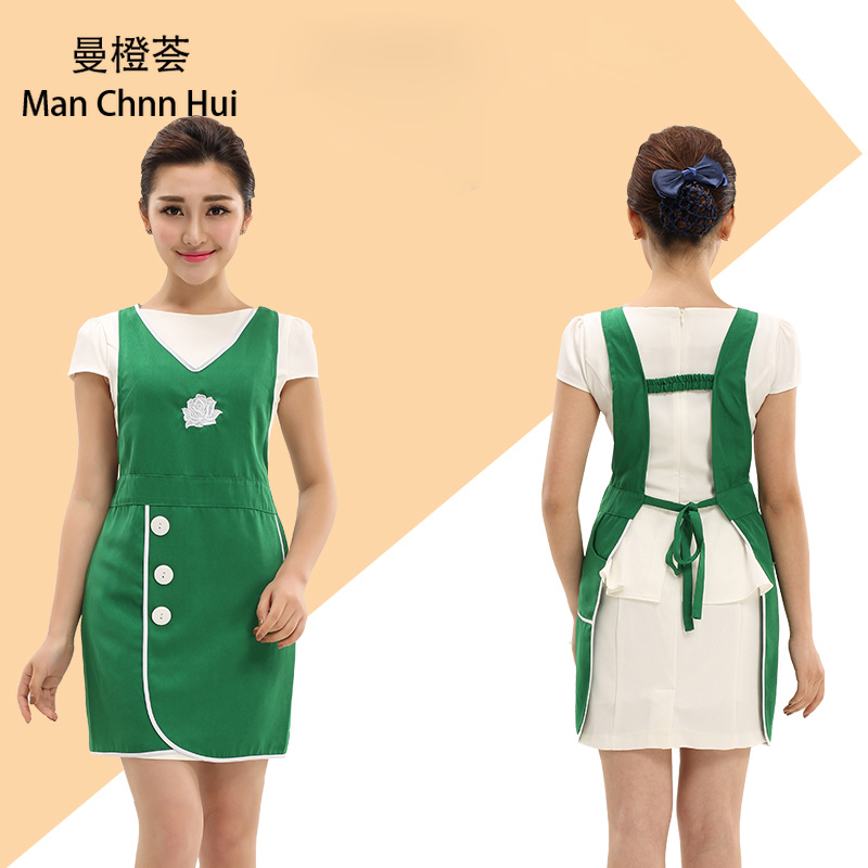 Sleeveless Spa Uniform Beauty Salon Tattoo Nurse Doctor Women Hospital Uniform Simple Slim Workwear Apron