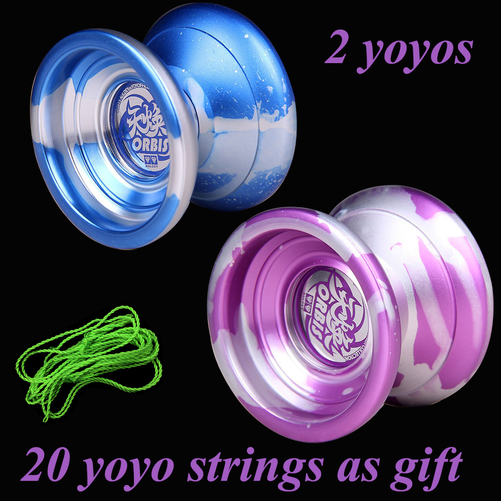 2 Pcs/set ORBIS YOYO Professional Butterfly Metal yoyo diabolo Aluminum High Precision Game Special Props Dead Sleep