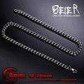 Beier collar nuevo giro de acero inoxidable de 6mm collar de cadena de moda boy hombre collar bn1030