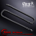 Beier stainless steel necklace new twist 6mm trendy chain necklace boy man necklace  BN1030