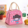 Cartoon little girl lunch bag lunch bags large laptop Oxford Bucharest thick insulation bags lunch bag waterproof