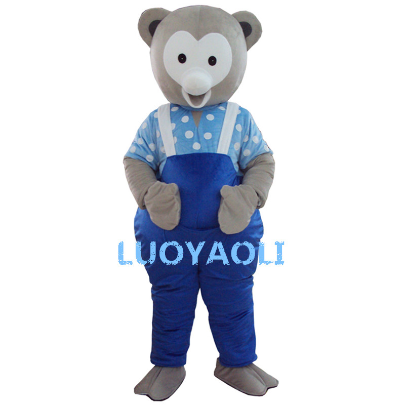 New Bear Mascot Costume Adult Size Fancy Dress Party Outfit Free Shipping
