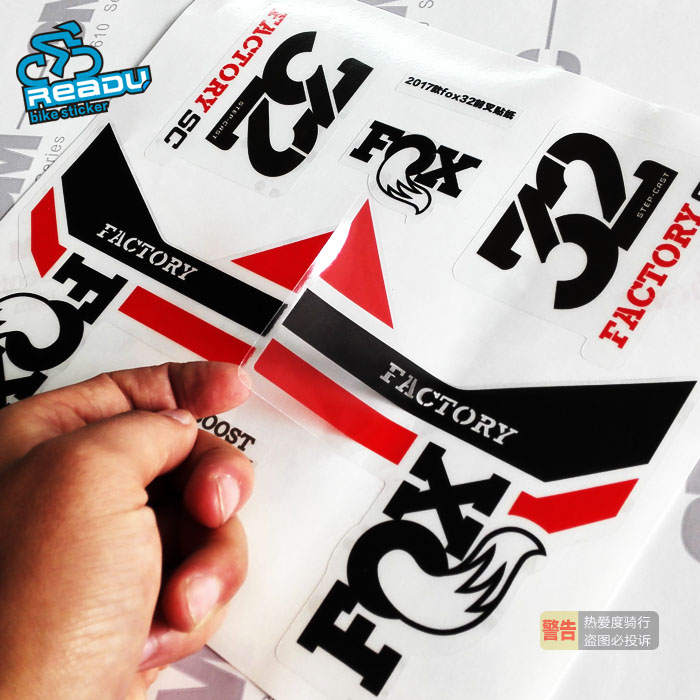 FOX 32 Step Cast SC Forks Suspension Factory Decals Stickers Adhesive Rainbow