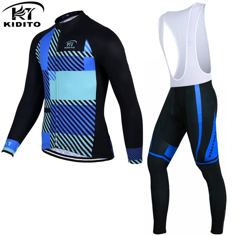 ФОТО KIDITOKT 2017 Long Sleeve Racing Bike Clothes Thermal Fleece Ropa Roupa Invierno MTB Bicycle Clothing Winter Cycling Jersey Sets