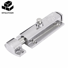 MTGATHER 406, для домашней двери, окна, безопасности, болт, замок, кнопка открытого типа, хромированный цинковый сплав, 98x30x13 мм, не ржавеет, прочный