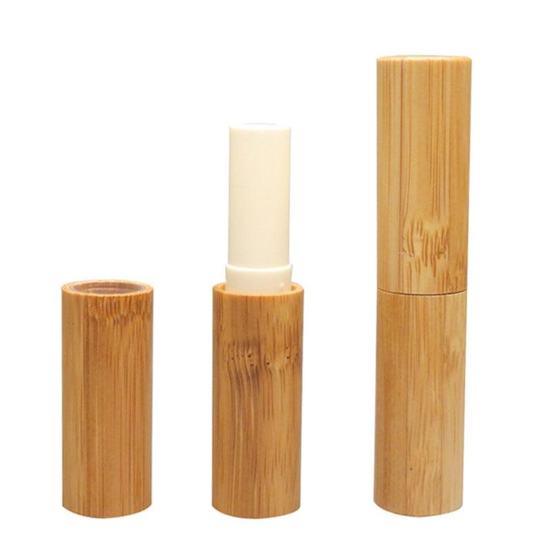 Petit maquillage baume à lèvres vide Tube de bambou contenant des Tubes de bâton à lèvres emballage pour baume à lèvres rouge à lèvres