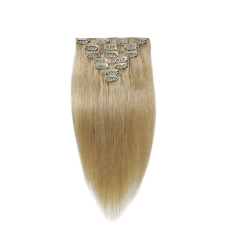 Full-Head-Clip-In-Hair-Extensions-Blonde-613-Straight-Brazilian-Hair-Clip-Ins-Remy-Human-Hair (3)