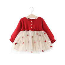 Baby First Birthday Outfit Girl Red
