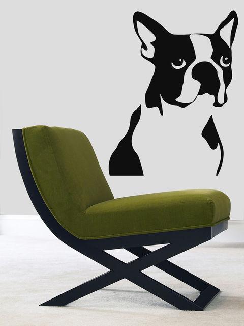 Wall Decals Vinyl Decal Sticker Mural Pet Shop Decor Dog Boston Terrier