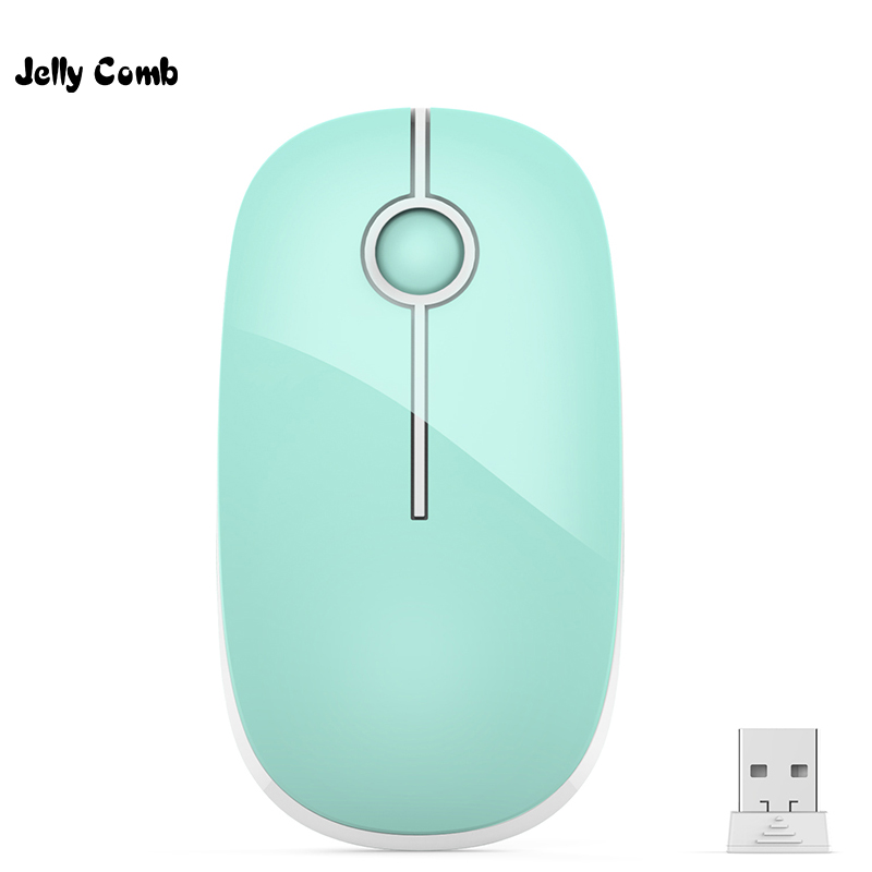 Jelly Comb Ultra Slim Portable Optical Mice Quiet Click Silent Mouse 2.4G Wireless Mouse For PC Laptop Notebook Windows Mac OS