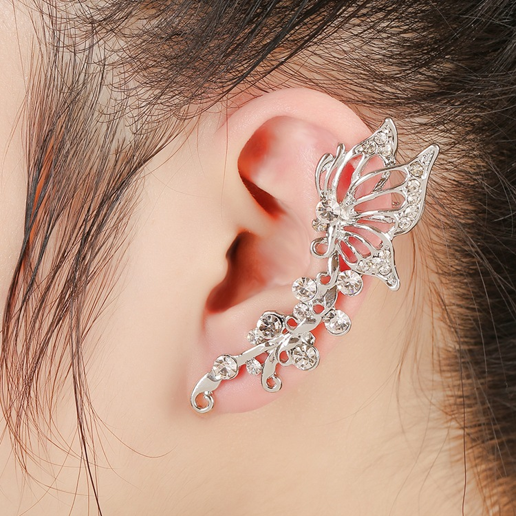 1pcs Right Left Ear Clip Fashion Rhinestone Hot Earcuff ...