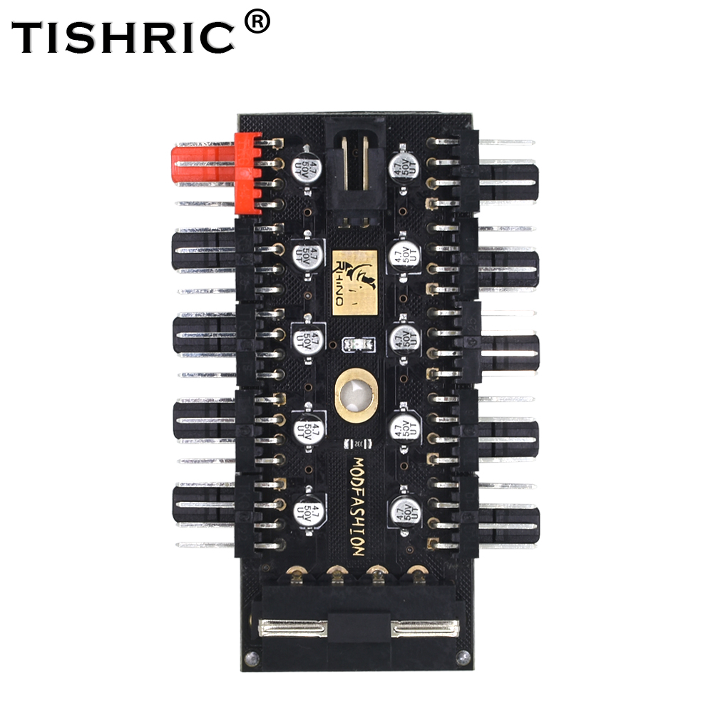 TISHRIC 2018 New PC 1 to 10 4Pin Molex Cooler Cooling Fan Hub ...