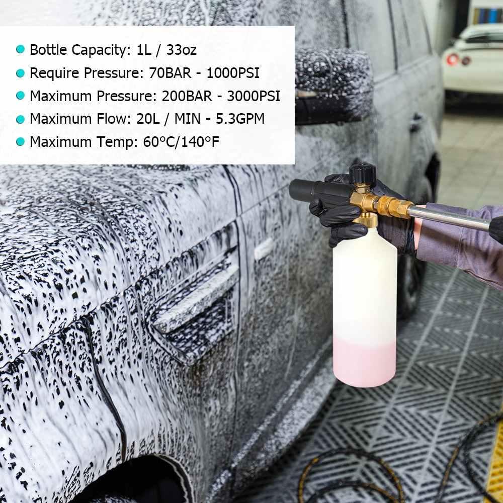 Regolabile Lancia Schiuma 1L pistola a spruzzo Bottiglia di Ugello di Iniezione Sapone Foamer Pressione di Lavaggio Auto Pistola di Lavaggio Auto Bottiglia per Lavor rondella