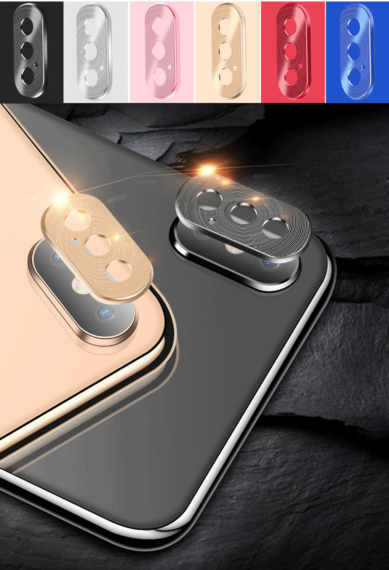 KIPX1118_10_Metal Camera Lens Protector for iPhone X XS XR XS Max 360 Full Protection Anti-scratch Camera Protective Cover