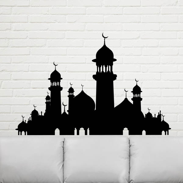 Great Mosque Pattern Islam Religious Supplies Wedding Decoration Wall Decal Wallpaper Wall Pvc Sticker Kids Rooms Decor