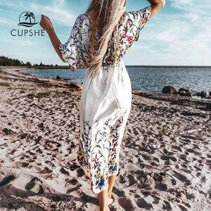 Image 1 - CUPSHE البرية ميدي بيكيني التستر مثير الدانتيل يصل المرأة فستان طويل الرؤوس 2020 الصيف شاطئ ثوب السباحة بحر