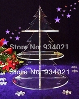 3 Tier Christmas Tree Shaped Acrylic Cupcake Stand For Christmas Party