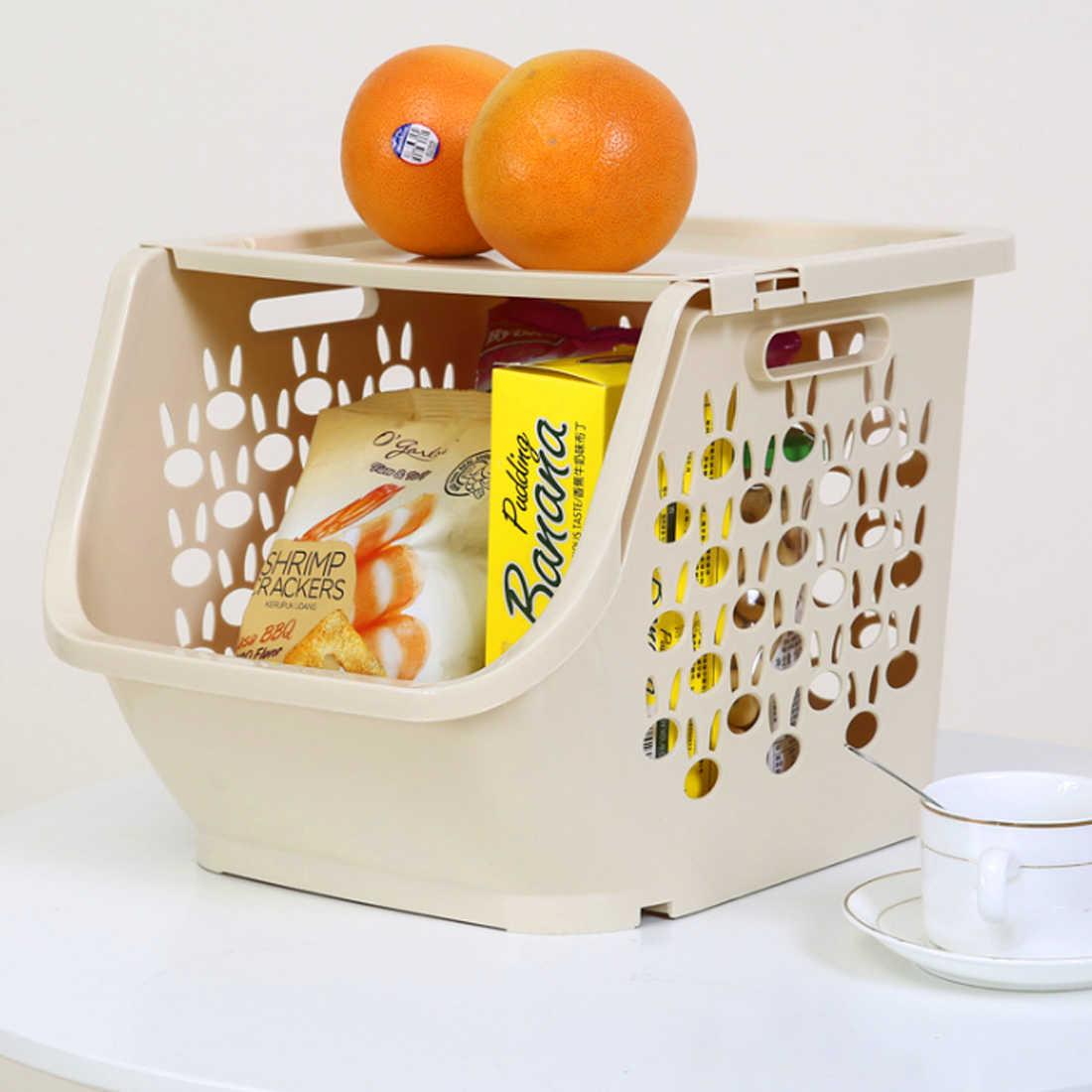 HIPSTEEN Cozinha Oco Prateleiras de Frutas Legumes de Plástico Cesta De Armazenamento de Multi-funcional com Tampa Cesta De Armazenamento para Os Organizadores