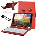"""New Case For 10.1""""Alcatel One Touch Pixi 3 10.1 Stand Folio kickstand USB OTG Keyboard Leather Tablet PC Bag"""